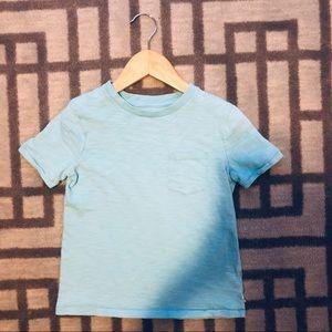Gap Teal Blue Pocket T-shirt size 4 - 5